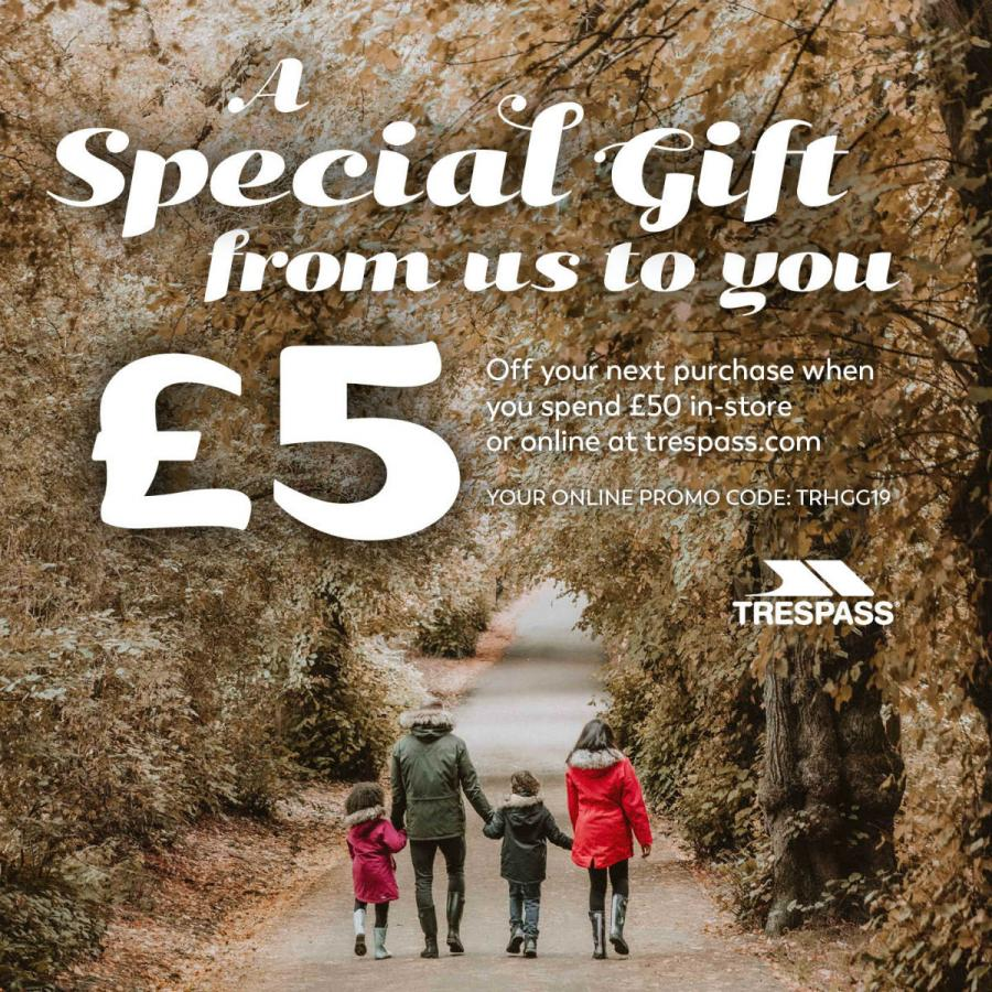 Trespass Christmas 2020 Voucher
