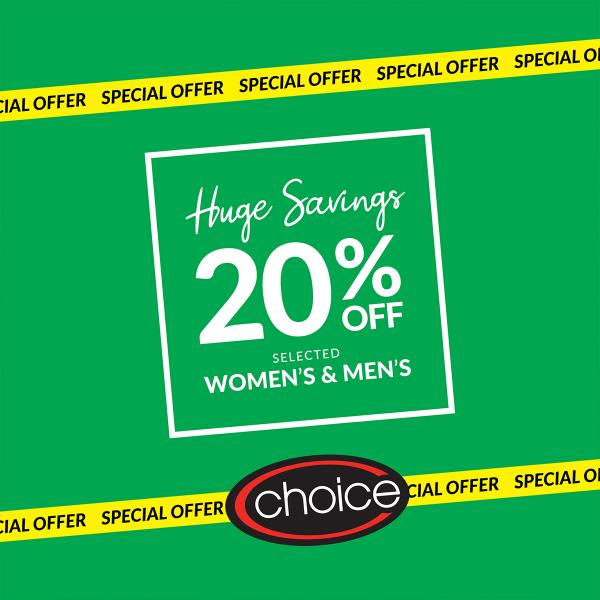 choice the galleria 20% off